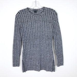 Theory Belira Striped Rib Knit Sweater
